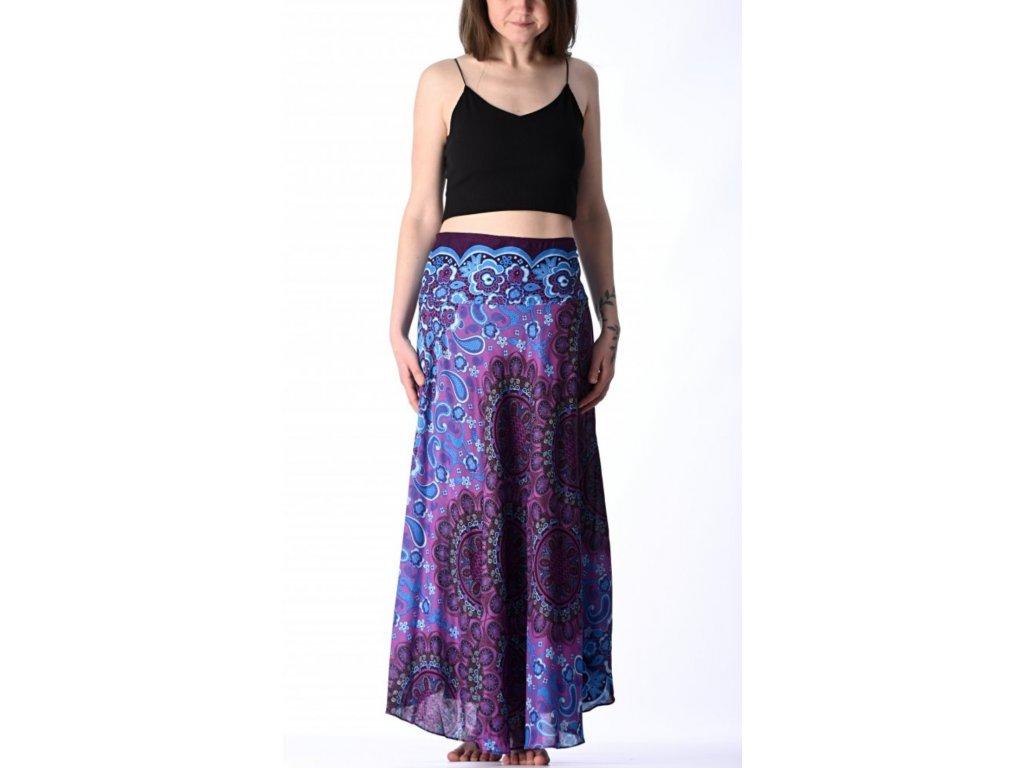 sukne mandala fialovo modra