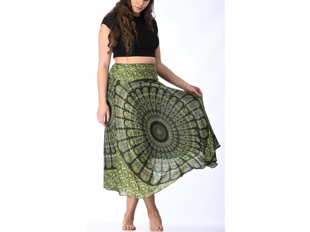sukne zelena mandala