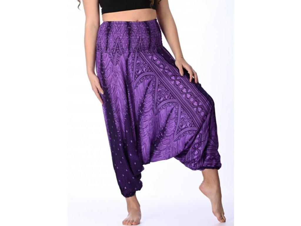 haremove kalhoty fialove damske