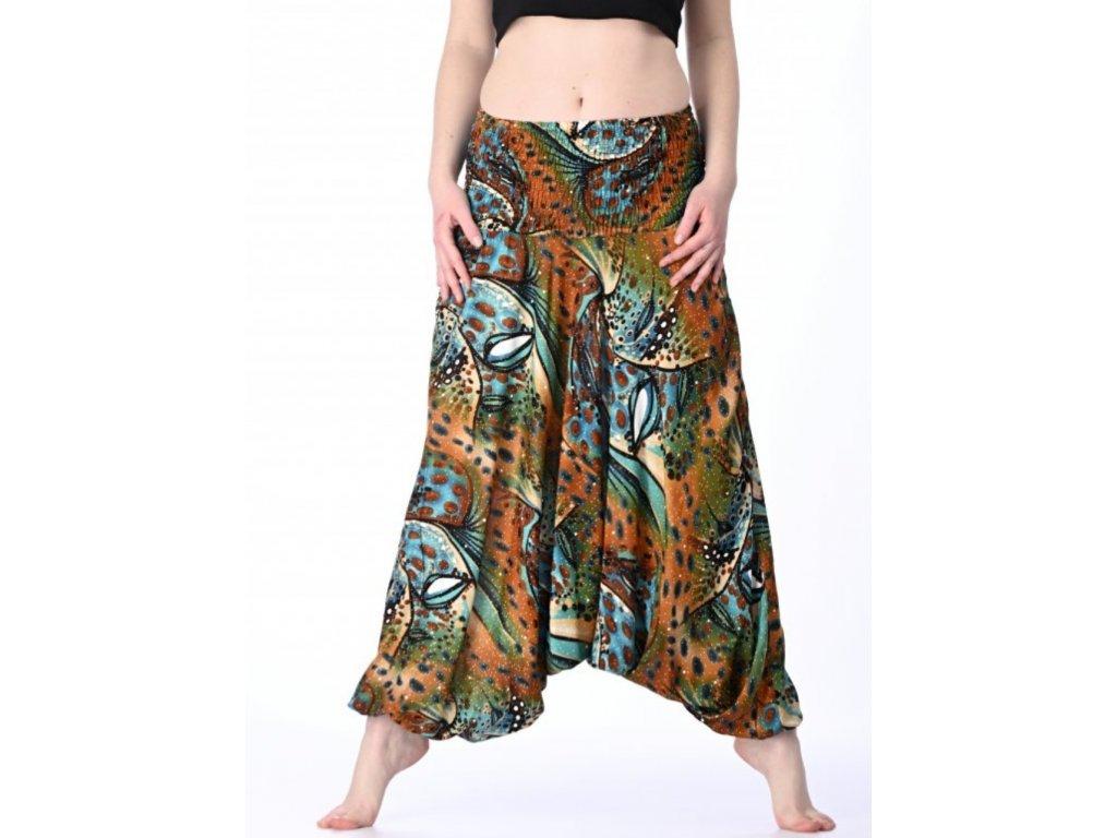 orientalni kalhoty damske jungle