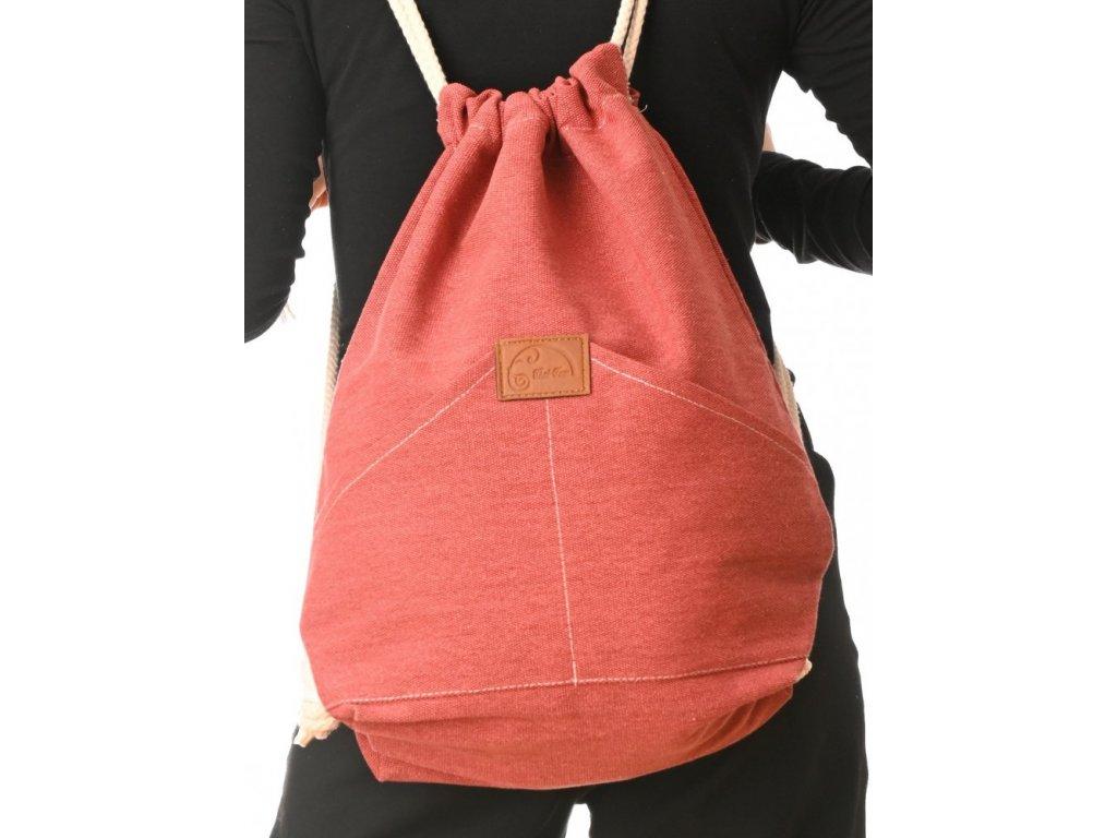 bavlneny batoh red