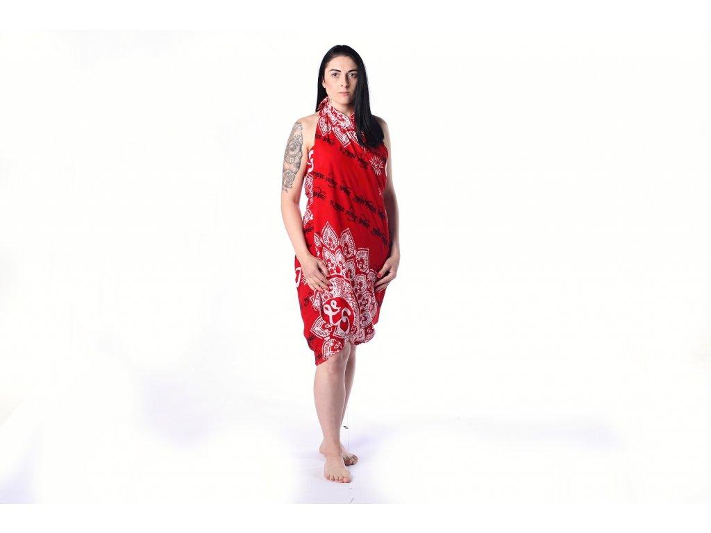 sarong cerveny mandala