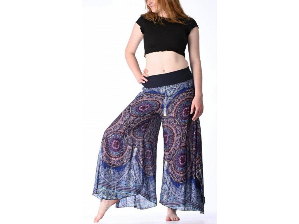 damske kalhoty modrofialove kruhy 1