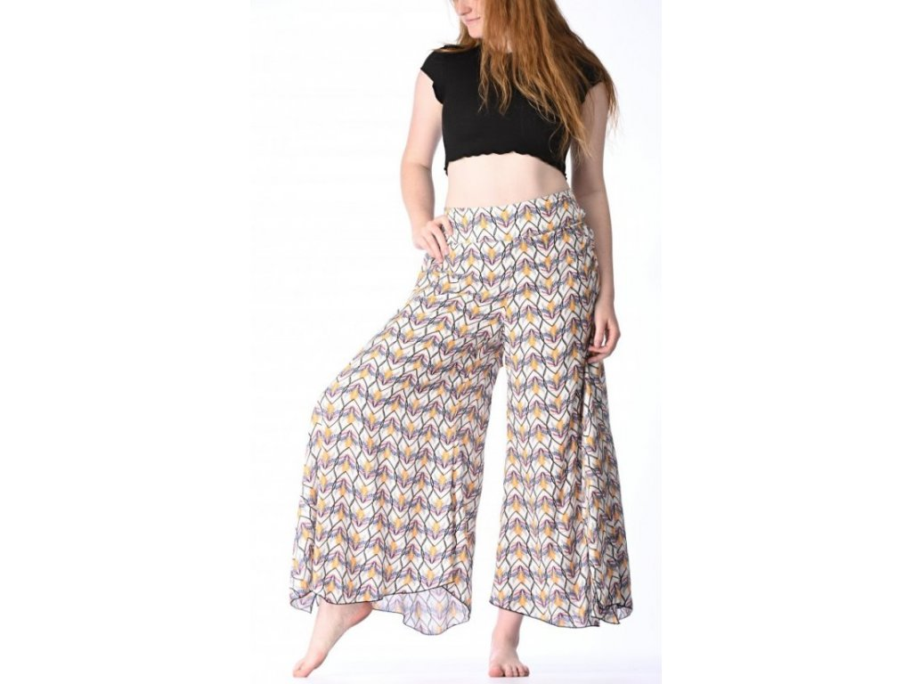 damske kalhoty bile se vzory 1