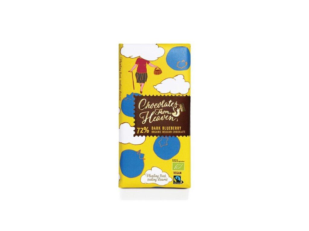 horka cokolada s boruvkami 100g
