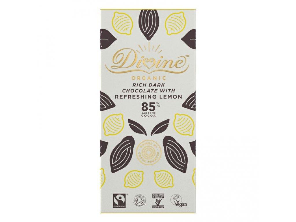 divine BIO horka cokolada s citronovym olejem