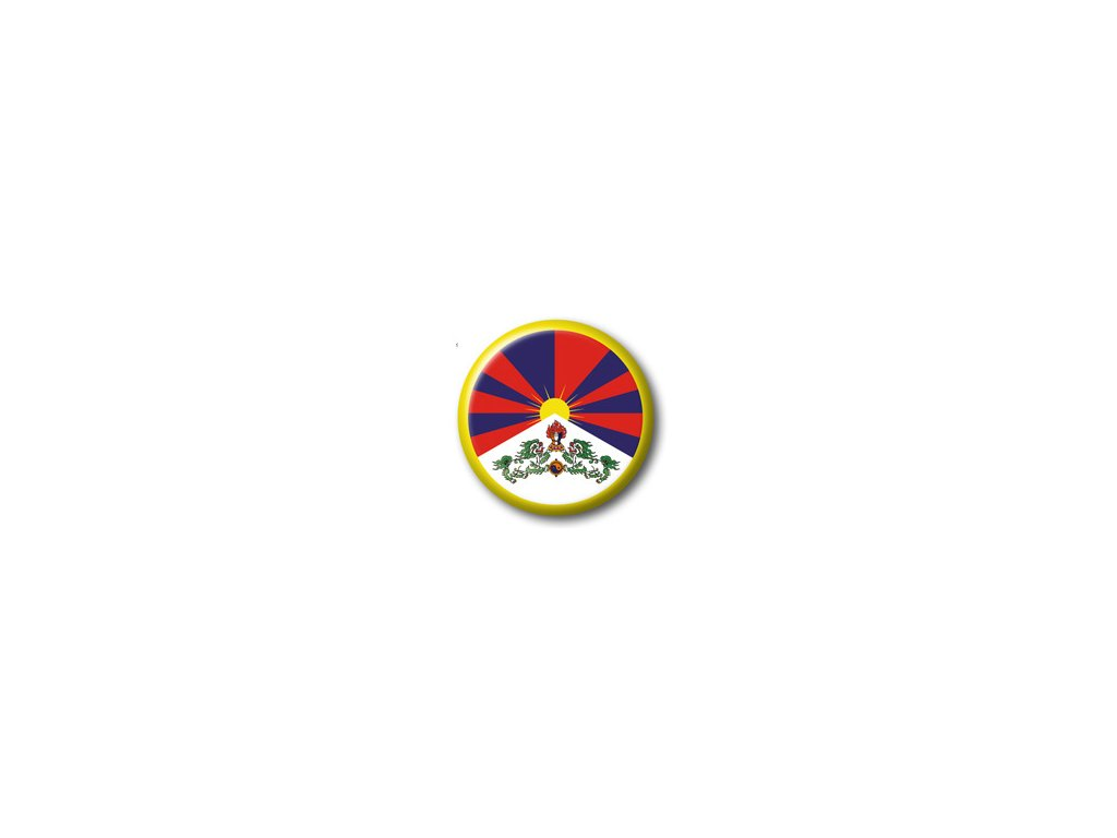 Button tibetská vlajka malý
