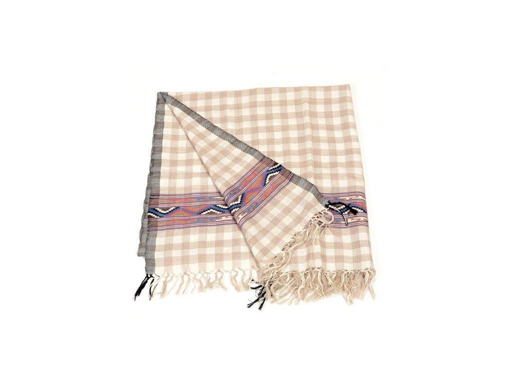 Vlněný šál kostkovaný – Tsewang
