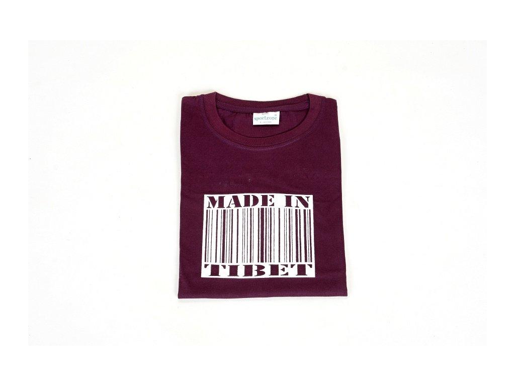 """Tričko """"Made in Tibet"""" - fialová"""