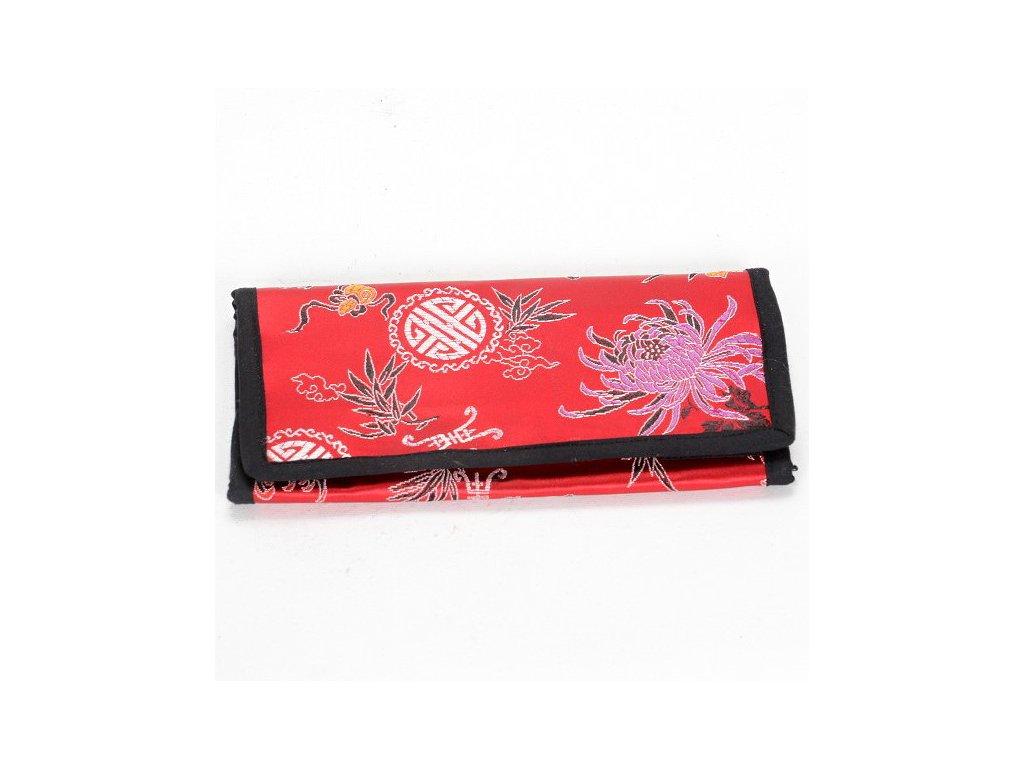 Brokátová peněženka DOLMA - červená
