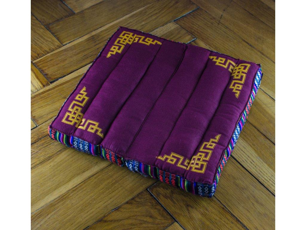Meditační polštář malý - fialový