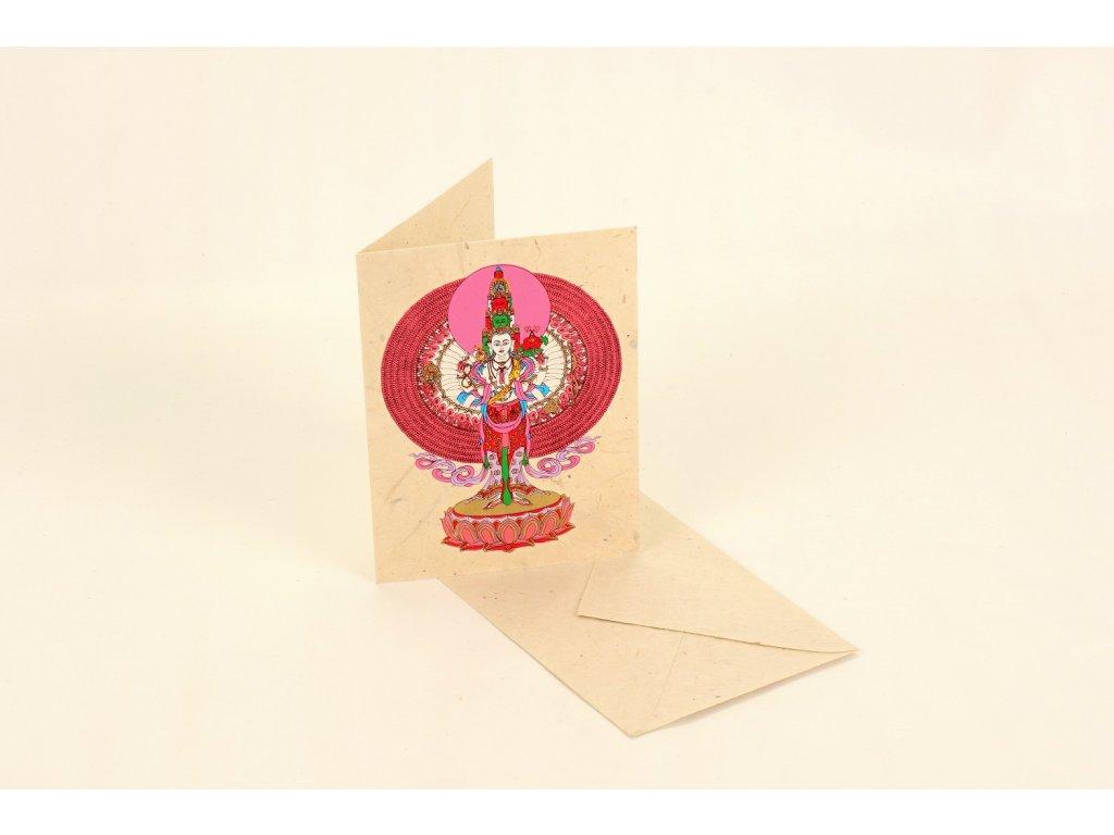 Přání z ručního papíru - Avalokiteswara