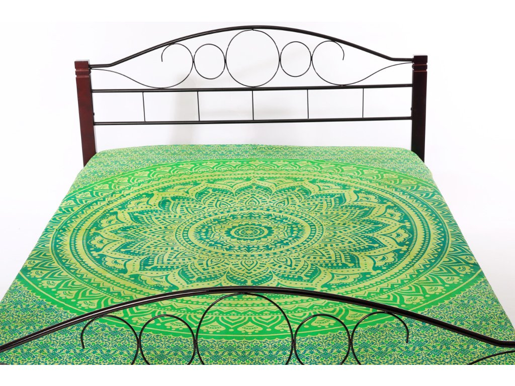 Přehoz mandala - odstíny zelené