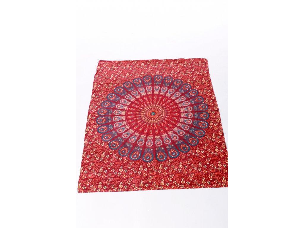 Dekorace mandala - červená