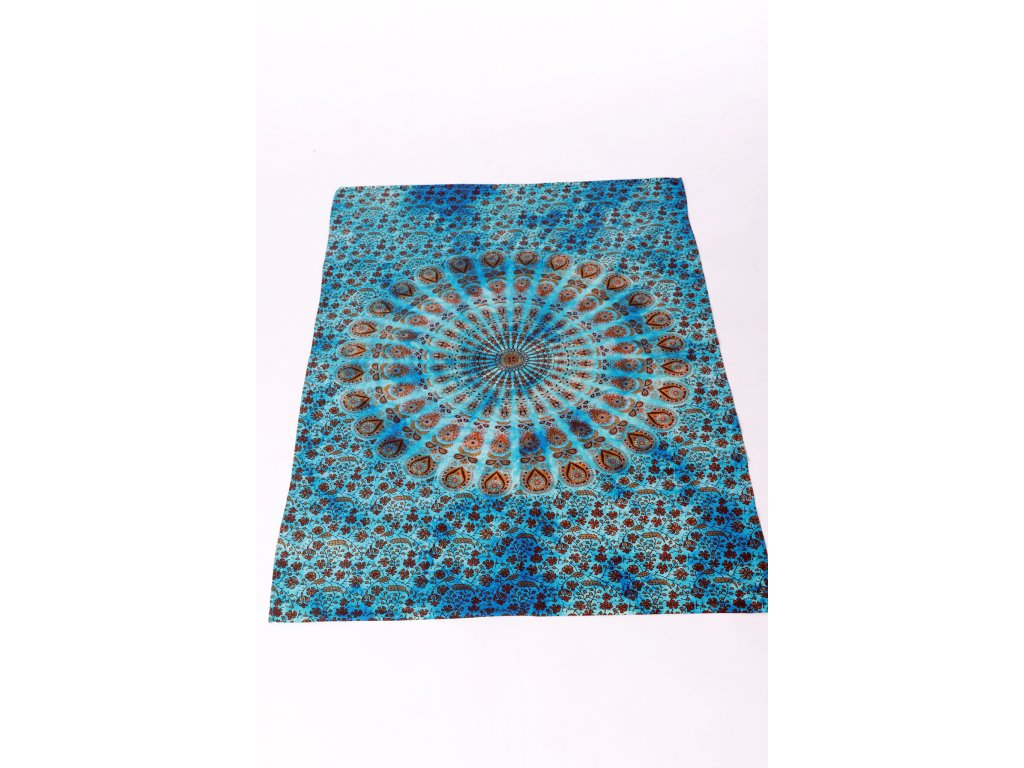 Dekorace mandala - modrá