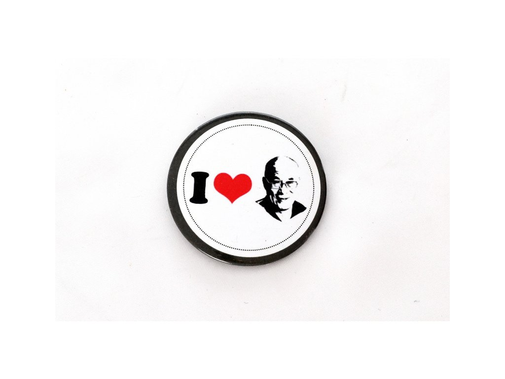 "Button ""I LOVE DALAI LAMA"""