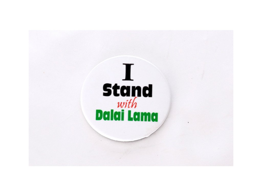 "Button ""I Stand with Dalai Lama"""
