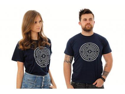 Tričko Mandala Om tmavě modrá
