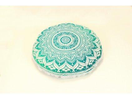 Povlak na meditační polštář mandala tyrkysová