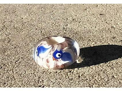 Skleněná perla Slavík modrohřbetý