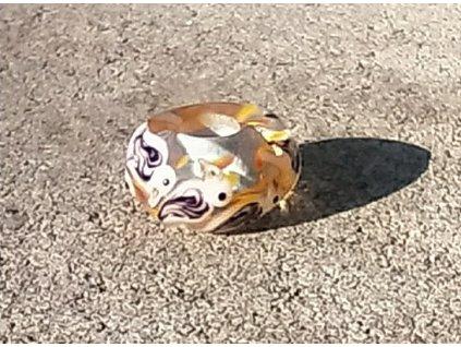 Skleněná perla ptačí slet