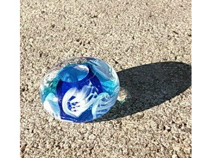 Skleněná perla medůzová B