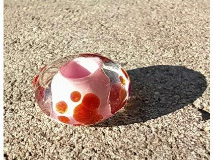 skleněná perla tlapička rezavá