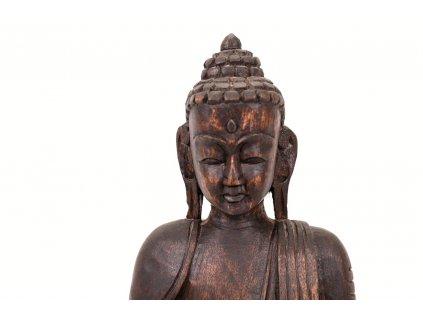 Buddha soska drevena 30 cm