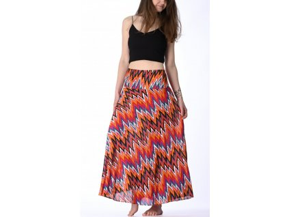 dlouha sukne cervena etno