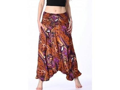 damske haremove kalhoty oranzove