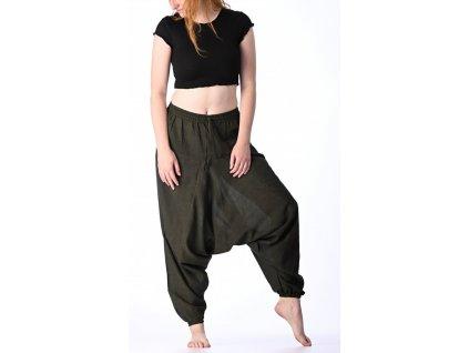 haremove kalhoty tmave zelene 1