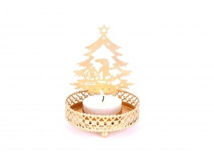 Stojánek na svíčku malý - vánoční stromeček