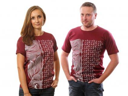 Tričko Yak vínové