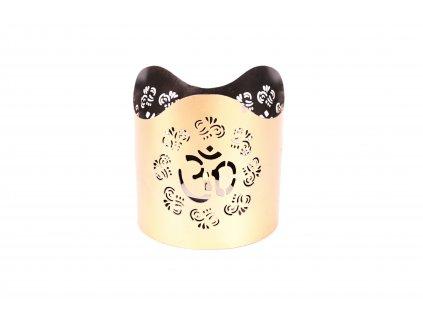 Stojánek na svíčku velký - OM zlatý