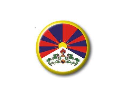 Button tibetská vlajka