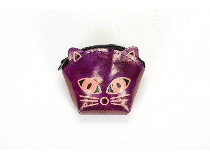 Kožená peněženka – Čimi fialová