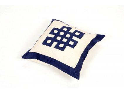 Povlak na polštář lněný - tmavě modrý