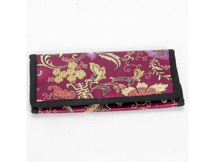 Brokátová peněženka DOLMA - fialová