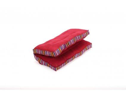 Meditační polštář malý karmínový
