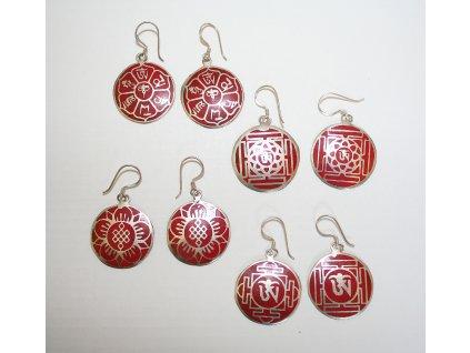 Náušnice symbolv červené