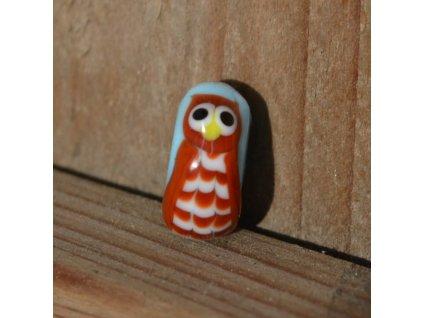 Skleněná perla moudrá sova