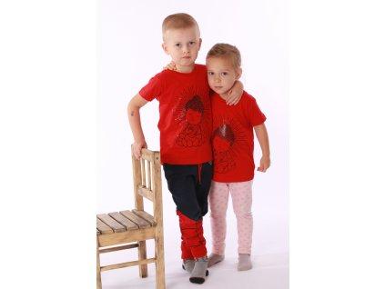 Dětské tričko Buddha červené