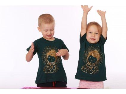 Dětské tričko Buddha zelené