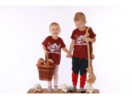 Dětské tričko Everest červené