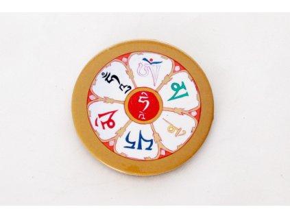 "Button ""ÓM MANI PADMÉ HÚM"""