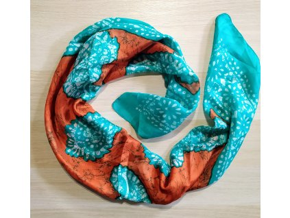 Hedvábný šátek podzimní