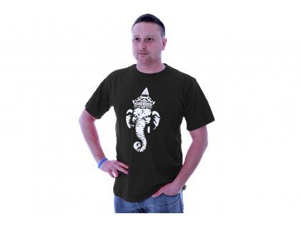 Tričko s bohem Ganéša - černé