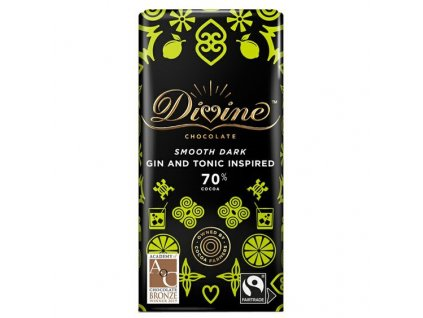Divine horka cokolada s citronem a jalovcem 70% 90g