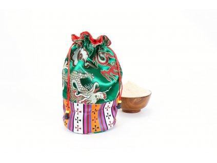 Brokátový Tsampa pytlíček zelený