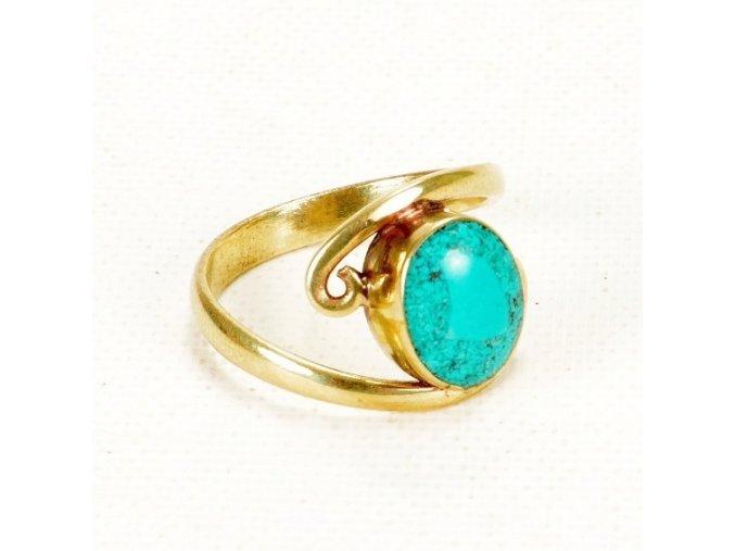 Prsten tyrkysová vlna